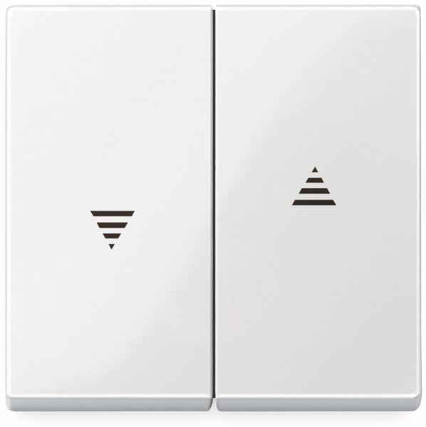 MERTEN System M, 432419, polarweiß glänzend, Serienwippe mit Pfeilsymbol