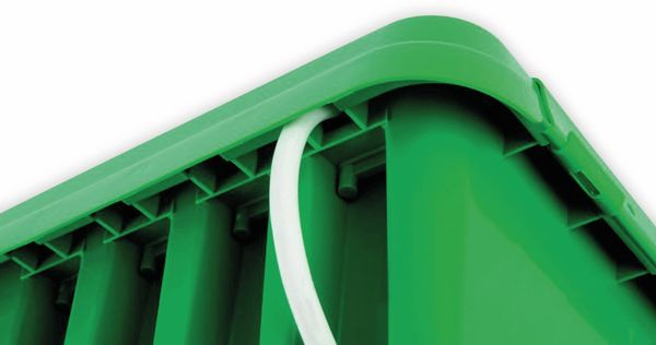 Sicherheits-Box HEITRONIC DRiBOX, 285x150x110, grün - Produktbild 3