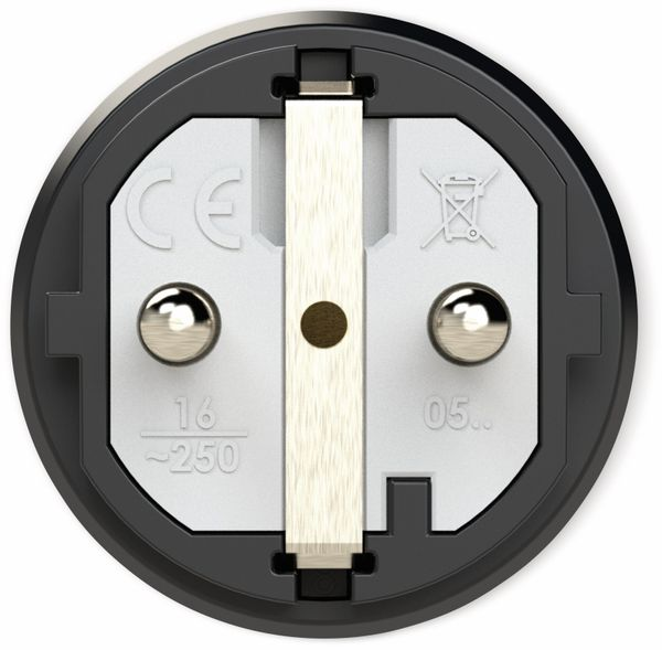 Gummi-Schutzkontaktstecker PCE Taurus2, schwarz/orange - Produktbild 2