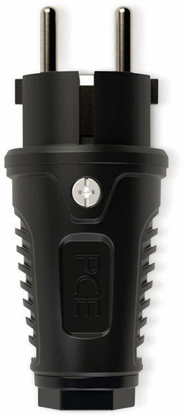 Gummi-Schutzkontaktstecker PCE Taurus2, schwarz