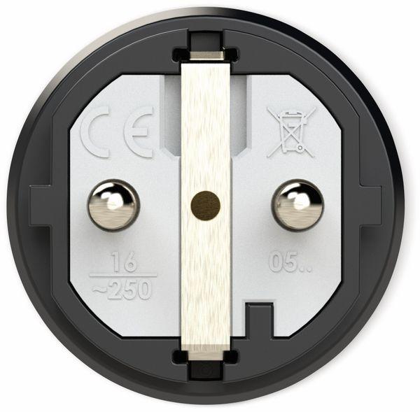 Gummi-Schutzkontaktstecker PCE Taurus2, schwarz - Produktbild 2