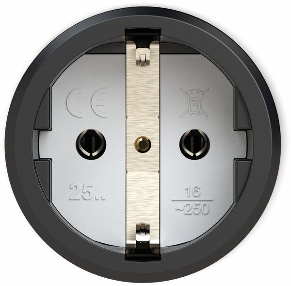 Gummi-Schutzkontaktkupplung PCE Taurus2, schwarz/gelb - Produktbild 2