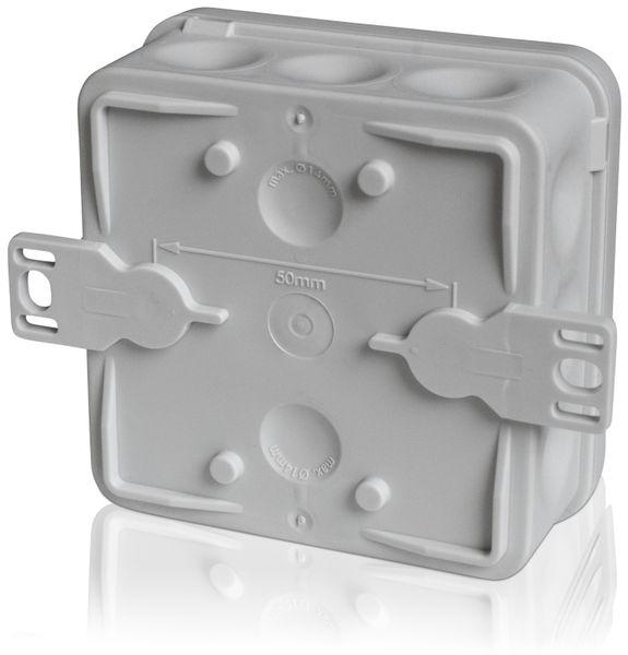 Abzweigkasten F-TRONIC E1200, 80x80x37 mm, grau, 10 Stück - Produktbild 2