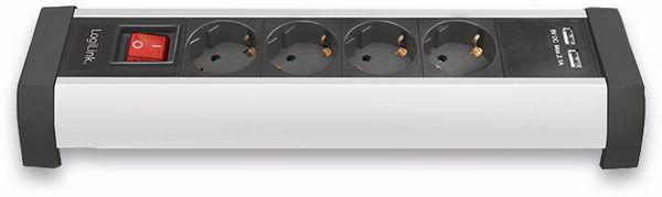 Tisch-Steckdosenleiste LOGILINK LPS236U, 4-fach mit 2x USB Port, 1,5 m - Produktbild 4