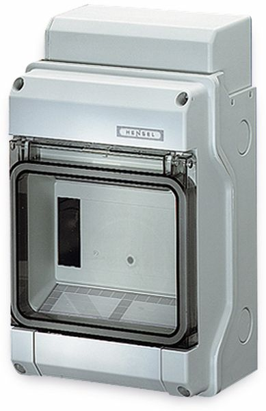 Feuchtraum-Kleinverteiler HENSEL KV 9106, 1-reihig, 6 TE, IP65