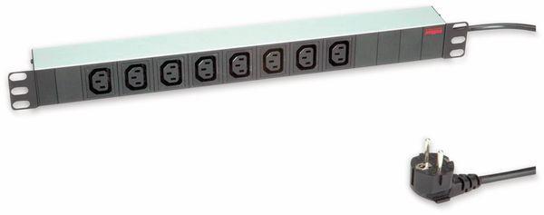 """Steckdosenleiste ROLINE, 19"""", 8-fach C13, Schutzkontakt Stecker, Aluminium"""