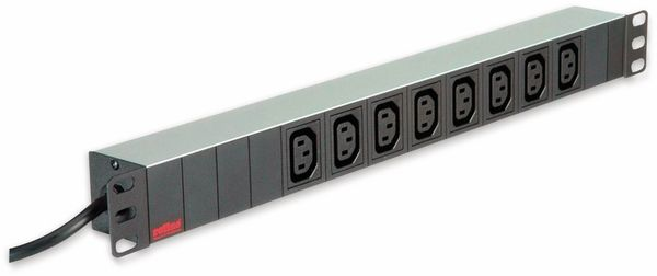 """Steckdosenleiste ROLINE, 19"""", 8-fach C13, Schutzkontakt Stecker, Aluminium - Produktbild 3"""