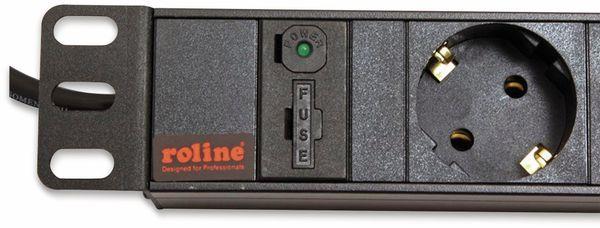 """Steckdosenleiste ROLINE, 19"""", 8-fach, C14 Stecker, schwarz - Produktbild 4"""