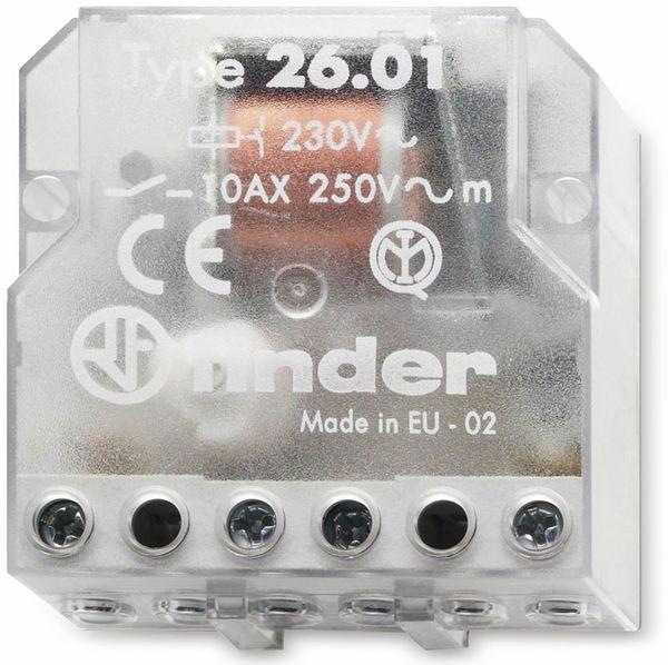 Stromstoß-Schalter FINDER, 10 A, 24 V, 26.01.8.024.0000, UP