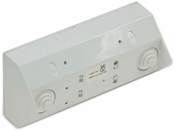 Steckdosenblock CHILITEC 22140, 2-fach, mit 2x USB, 16A/250V~, weiß - Produktbild 2