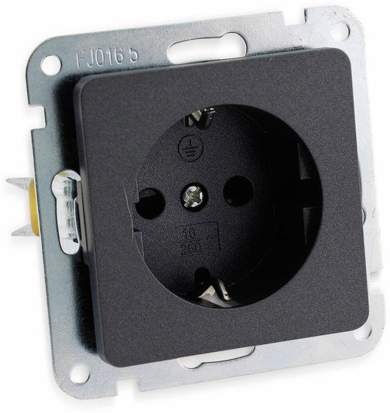 Schutzkontakt-Steckdose MILOS 23036, 16A/250V~, anthrazit - Produktbild 2