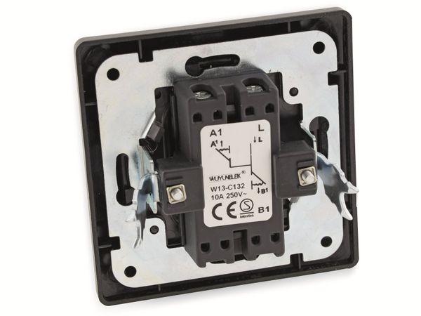 Jalousieschalter MILOS 23041, 250V~, anthrazit - Produktbild 3