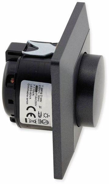 Dimmer MILOS 23045, 3-60 W, 250 V~, für LED Lampen, anthrazit - Produktbild 2