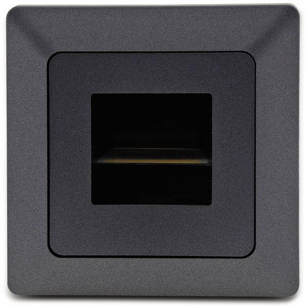 LED-Einbauleuchte MILOS 23048, 3000k, ww, 110 lm, COB, 250 V~, anthrazit - Produktbild 2
