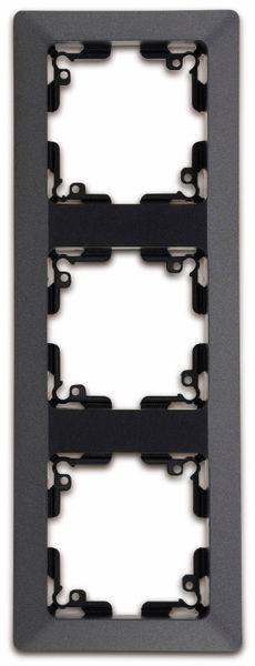 Abdeckrahmen MILOS 23053, 3-fach, Innenmaß 55x55 mm, anthrazit - Produktbild 2