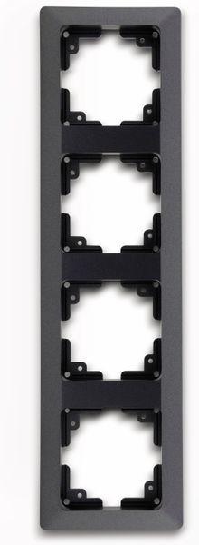 Abdeckrahmen MILOS 23054, 4-fach, Innenmaß 55x55 mm, anthrazit - Produktbild 2