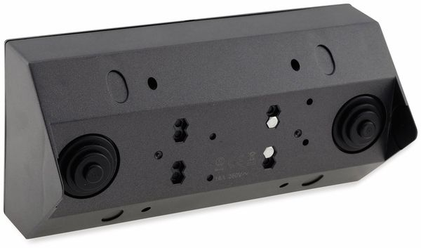 Steckdosenblock CHILITEC 23057, 2-fach, mit 2x USB, 16A/250V~, anthrazit - Produktbild 3