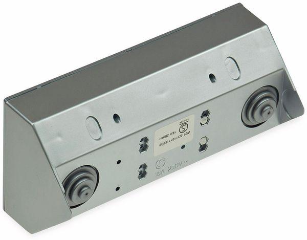 Steckdosenblock CHILITEC 22141, 2-fach, mit 2x USB, 16A/250V~, silber - Produktbild 2