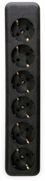 Steckdosenleiste KOPP, 6-fach, schwarz, ohne Zuleitung