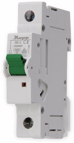 Leitungsschutzschalter KOPP 720201002, 2A, 1-polig, Char. C