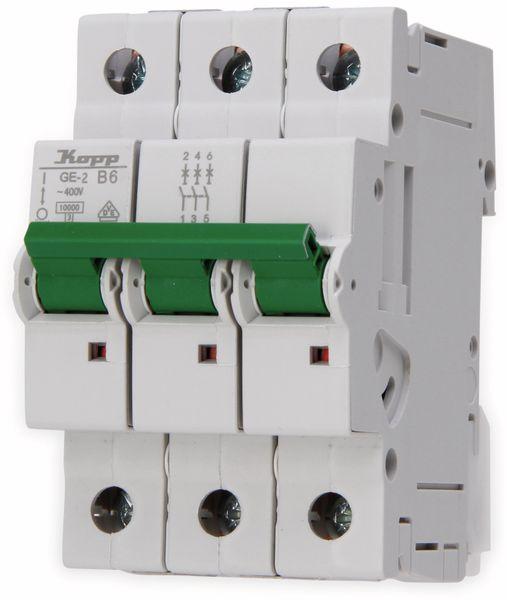 Leitungsschutzschalter KOPP 720630004, 6A, 3-polig, Char. B
