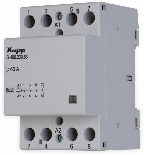 Installationsschütz KOPP IS-400.230.63, 63 A, 3-polig