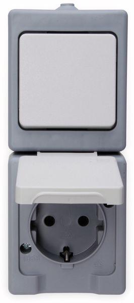 Feuchtraum-Kombination KOPP 130148003, Senkrecht, grau