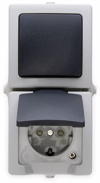 Feuchtraum-Kombination KOPP Nautic, Senkrecht, grau