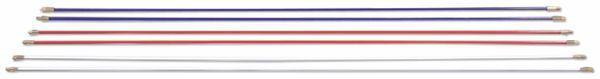 Kabeleinziehhilfe, HellermannTyton, 897-90006, Cable Scout+ Zubehör CS-P5 Erw.stangen, 5mm, rot,Paar