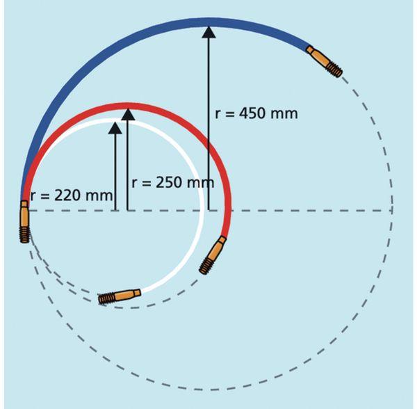 Kabeleinziehhilfe, HellermannTyton, 897-90007, Cable Scout+Zubehör CS-P6 Erw.stangen, 6mm, blau,Paar - Produktbild 2