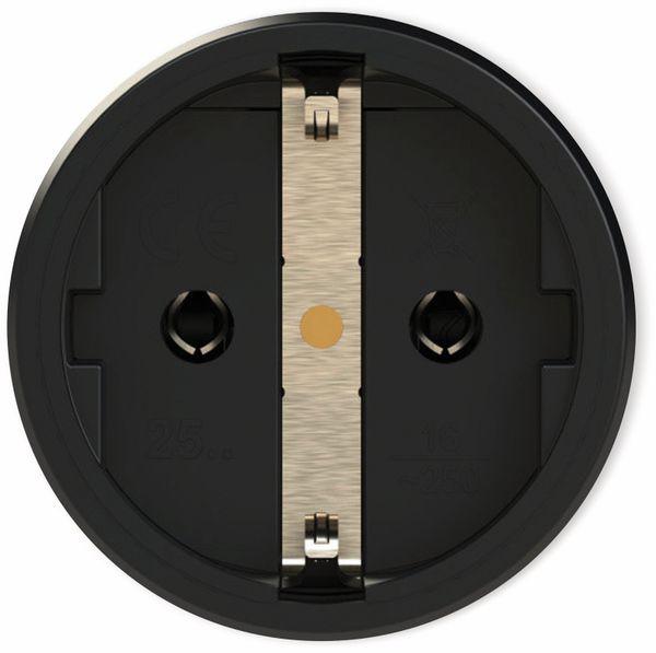 Schutzkontaktkupplung PCE TopTaurus2, schwarz/rot, mit LED - Produktbild 3