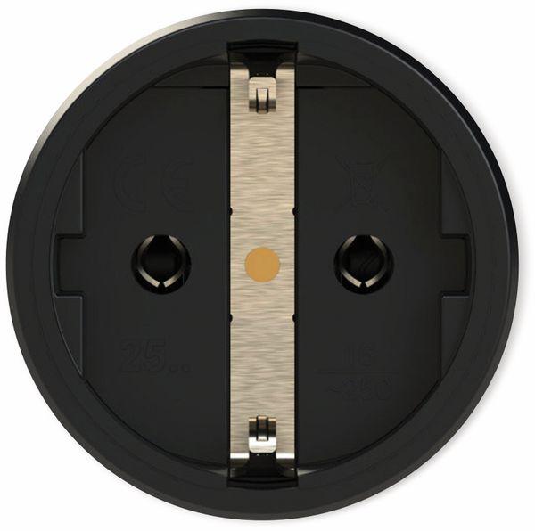 Schutzkontaktkupplung PCE TopTaurus2, mit Klappdeckel, schwarz/rot - Produktbild 2