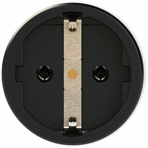 Schutzkontaktkupplung PCE TopTaurus2, mit Klappdeckel, schwarz/rot, mit LED - Produktbild 3