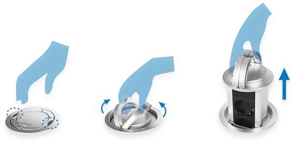 Steckdosensäule LOGILINK LPS235A, 3-fach - Produktbild 4