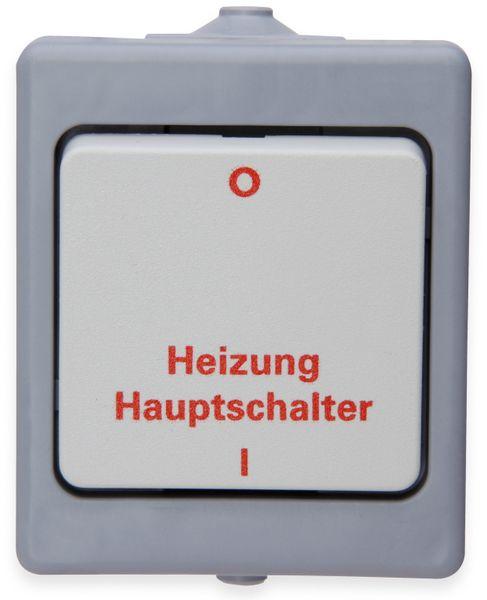 Feuchtraum-Heizungshauptschalter KOPP 567348009, grau