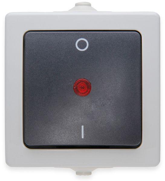 Feuchtraum-Schalter KOPP Nautic 565296007, beleuchtet, grau