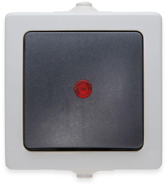 Feuchtraum-Kontrollschalter KOPP Nautic 566656002, mit Linse, grau