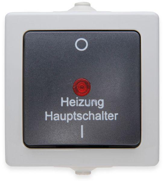 Feuchtraum-Heizungshaupschalter KOPP Nautic, 565356002, beleuchtet, grau
