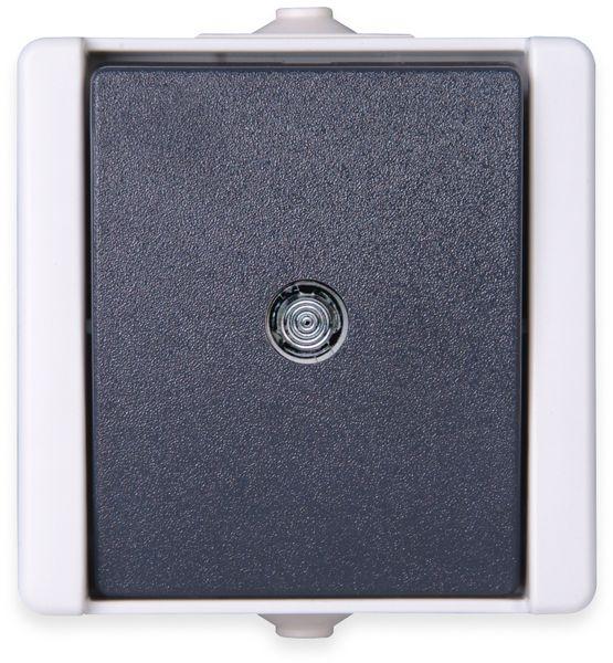 Feuchtraum-Taster KOPP proAQA 540396001, beleuchtet, grau