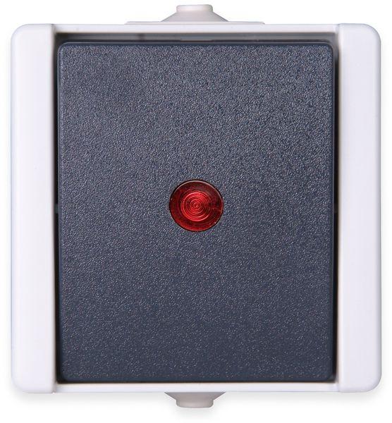 Feuchtraum-Kontrollschalter KOPP proAQA 541656003, grau