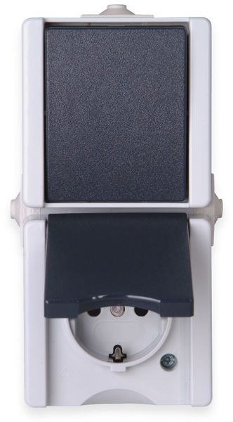 Feuchtraum-Kombination KOPP proAQA 139356003, Senkrecht, grau