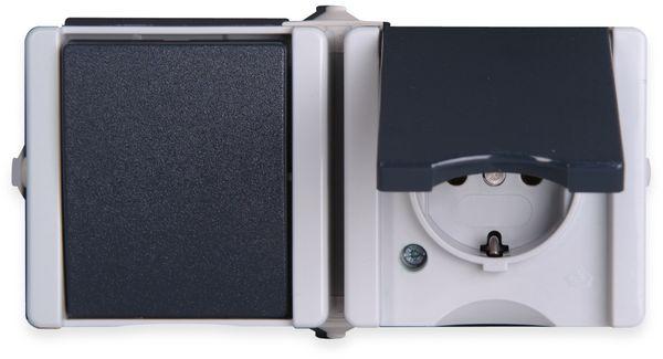 Feuchtraum-Kombination KOPP proAQA 139456006, Waagerecht, grau