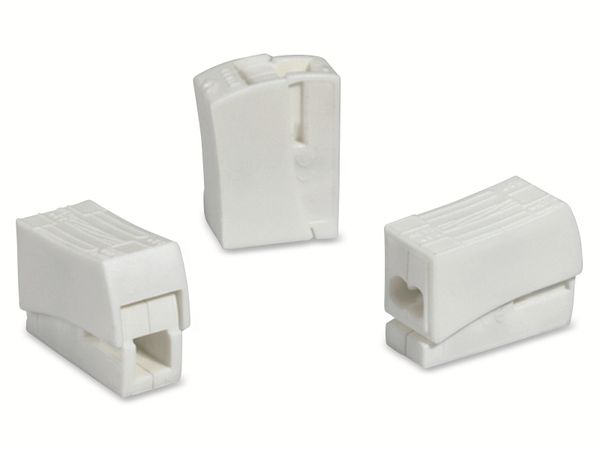 Verbindungsklemme, HellermannTyton, 148-90023, HECL-2/1, 0,5 - 2,5 mm², weiß, 1polig,100 Stück