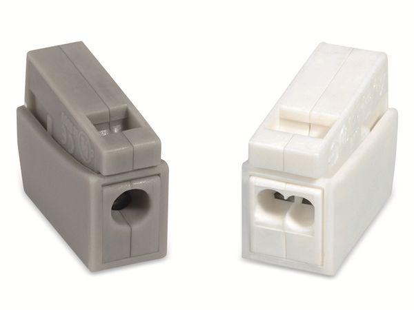 Verbindungsklemme, HellermannTyton, 148-90023, HECL-2/1, 0,5 - 2,5 mm², weiß, 1polig,100 Stück - Produktbild 2