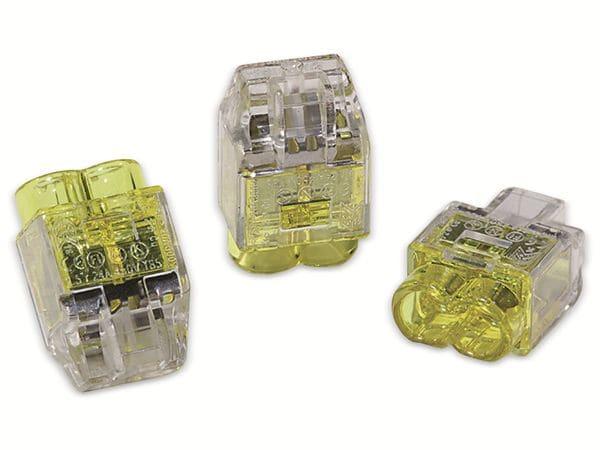 Verbindungsklemme, HellermannTyton, 148-90036, HCPM-2, 0,5 - 2,5 mm², gelb, 2polig, 150 Stück