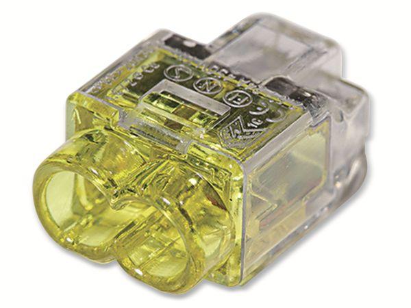Verbindungsklemme, HellermannTyton, 148-90036, HCPM-2, 0,5 - 2,5 mm², gelb, 2polig, 150 Stück - Produktbild 2