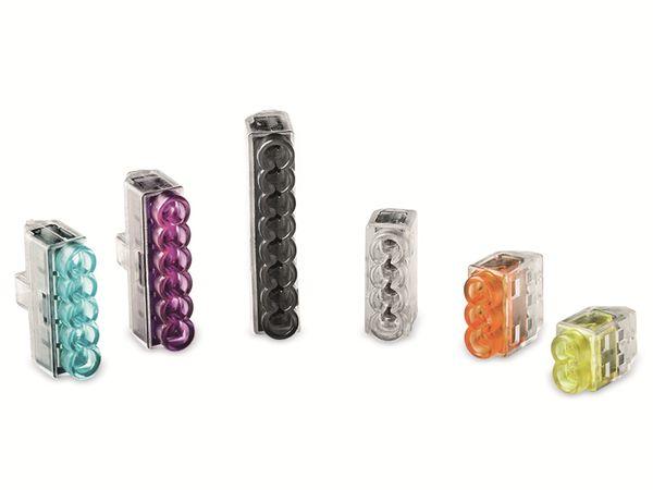 Verbindungsklemme, HellermannTyton, 148-90036, HCPM-2, 0,5 - 2,5 mm², gelb, 2polig, 150 Stück - Produktbild 3
