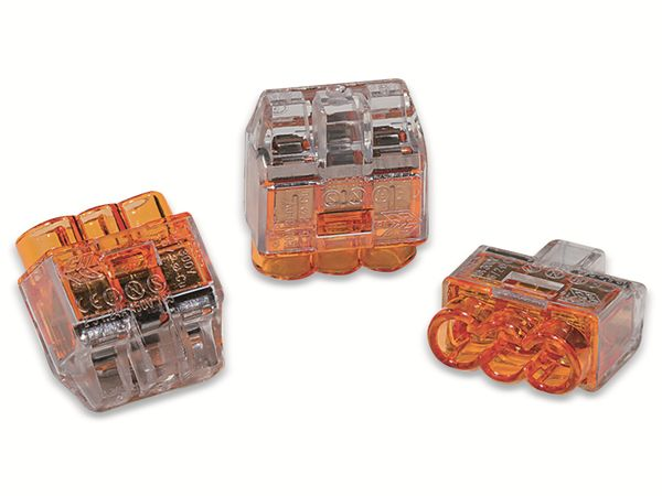 Verbindungsklemme, HellermannTyton, 148-90037, HCPM-3, 0,5 - 2,5 mm², orange, 3polig, 100 Stück - Produktbild 2