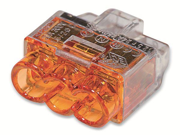 Verbindungsklemme, HellermannTyton, 148-90037, HCPM-3, 0,5 - 2,5 mm², orange, 3polig, 100 Stück - Produktbild 3