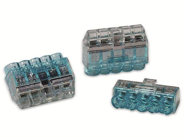 Verbindungsklemme, HellermannTyton, 148-90039, HCPM-5, 1,0 - 2,5 mm², blau, 5polig, 75 Stück